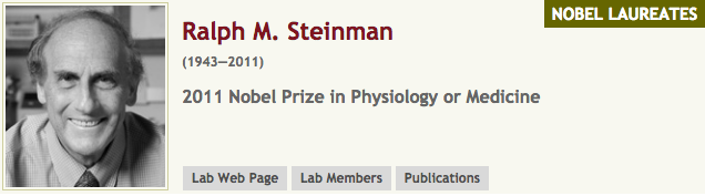 Steinman and the Nobel Prize
