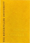 1972-1973 CATALOGUE by The Rockefeller University