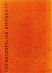1978-1979 CATALOGUE by The Rockefeller University