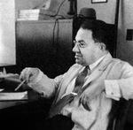 MAX BERGMANN IN HIS OFFICE