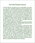 THE FIELD OF PEPTIDE CHEMISTRY