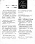 Notes From the Library,1960 by Library Staff