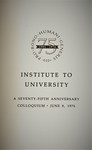Institute to University by The Rockefeller University