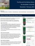 Markus Library Newsletter, February 2015