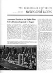 NEWS AND NOTES 1972, VOL.3, NO.9 by The Rockefeller University