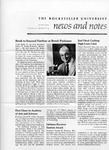 NEWS AND NOTES 1974, VOL.5, NO.9 by The Rockefeller University