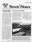 NEWS AND NOTES 1990, OCTOBER 19