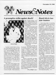 NEWS AND NOTES 1990, NOVEMBER 16 by The Rockefeller University