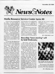 NEWS AND NOTES 1990, NOVEMBER 30 by The Rockefeller University