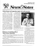 NEWS AND NOTES 1991, FEBRUARY 8
