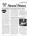 NEWS AND NOTES 1991, FEBRUARY 22 by The Rockefeller University