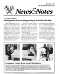 NEWS AND NOTES 1991, MARCH 1 by The Rockefeller University