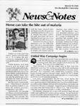 NEWS AND NOTES 1991, MARCH 15 by The Rockefeller University