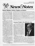 NEWS AND NOTES 1991, APRIL 12 by The Rockefeller University