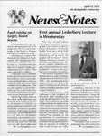 NEWS AND NOTES 1991, APRIL 19 by The Rockefeller University