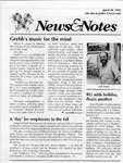 NEWS AND NOTES 1991, APRIL 26 by The Rockefeller University