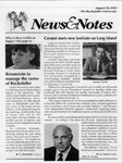NEWS AND NOTES 1991, AUGUST 16 by The Rockefeller University