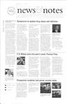 NEWS AND NOTES 2001, MARCH 9