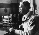 KARL LANDSTEINER IN HIS LABORATORY