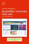 REDESIGNED ROCKEFELLER UNIVERSITY WEBSITE