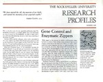 Gene Control and Enzymatic Zippers: [Dr. Vincent G. Allfrey] by Fulvio Bardossi and Judith N. Schwartz