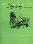 The Rockefeller Institute Quarterly 1960, vol. 4, no. 1