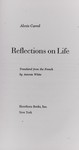 Carrel, A. Reflections on life by The Rockefeller University