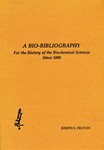 Fruton, J. A bio-bibliography for the history of the biochemical sciences since 1800