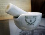 Antique porcelain mortar and pestle by The Rockefeller University