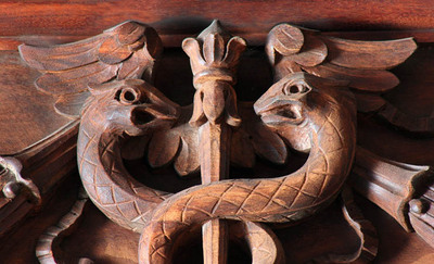 Main Reading Room, wood carving